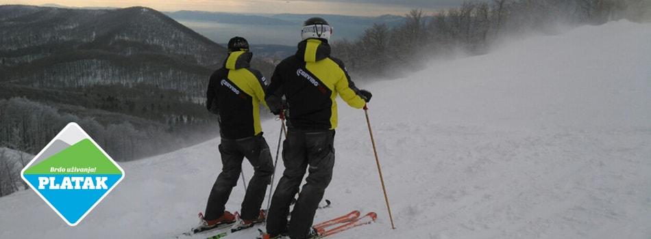 Platak Škola skijanja na platku skijaški klug carving