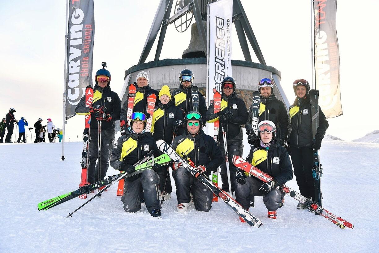 Skijaški klub carving Škola skijanja naučite skijati